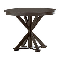 Willow Round Counter Height Table, Distressed Dark Gray