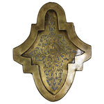 Badia Design Inc. - Small Moroccan Brass and Silver Wall Sconces, Brass - Small Moroccan Brass and Silver Wall Sconces