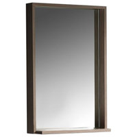 "Fresca Allier 22"" Gray Oak Mirror With Shelf"