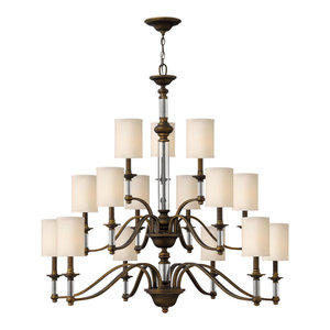 Hinkley Sussex Chandelier Extra Large Three Tier, English Bronze
