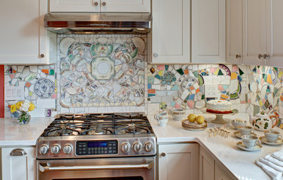 Kitchen of the Week: Broken China Makes a Splash in This Kitchen