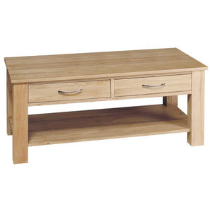 4 Drawer Mobel Contemporary Oak Coffee Table