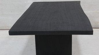 Kanso Burned Monkey pod Dining Table