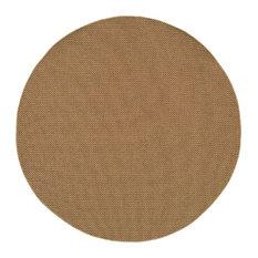 Indoor Outdoor Karavia Area Rug Sand Round 7 10
