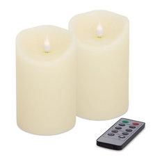 """Simplux Designer Melted Candle, Set of 2, 5.5"""""""