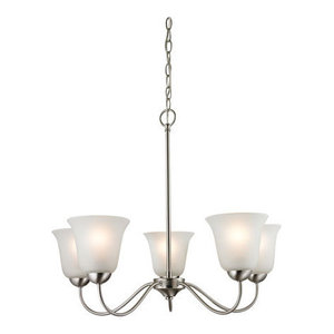 Thomas Conway 5-Light LED Chandelier, Brushed Nickel