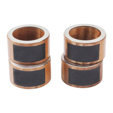 Great Useful Stuff - Bamboo Napkin Rings With Chalkboard Labels, Set of 4 - Napkin Rings