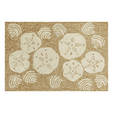 "Frontporch Shell Toss Rug, Natural, 30""x48"""
