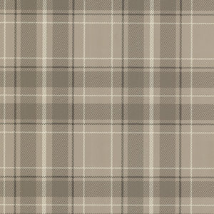Caledonia Plaid Wallpaper, Grey