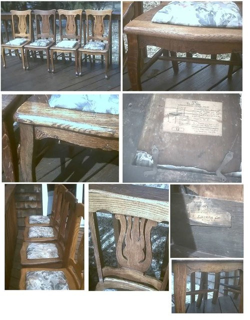 Antique Larkin 7 Oak Chairs