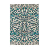 "Weave & Wander Arsene Rug, Aqua and Haze, 5'3""x7'6"""