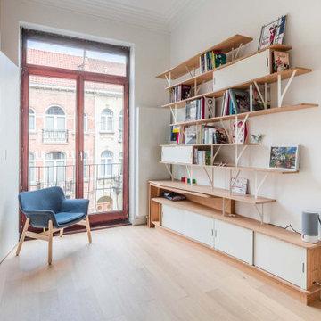 Bibliothèques, bureau escamotable et dressings sur-mesure PÔ et CURVE W&S