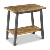 Tanner Rustic Lodge Iron Frame Wood Side Table