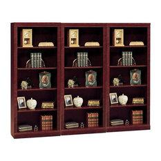 Bush Furniture Saratoga 5 Shelf Wall Bookcase in Harvest Cherry