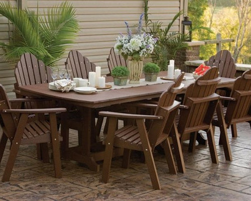 Incroyable Orchid Polywood Outdoor Dining Set