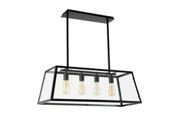 Quinn Black Glass Chandelier