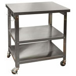 """Danver - Cocina Kitchen Cart With Stainless Steel Top, 30"""", Cart - 30'' Stainless Steel Kitchen Cart with towel rack"""