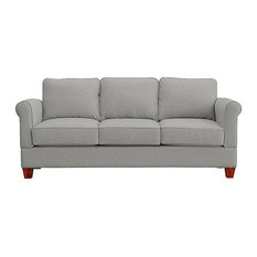 Georgetown Quick Assembly Three Seat Oak Leg Sofa, Moon