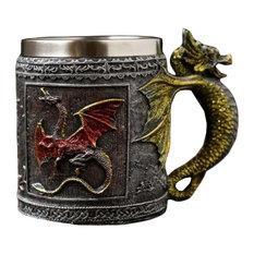 Creative Stainless Steel Mug Cocktail Glass Coffee Cup 480 Ml Christmas Gifts