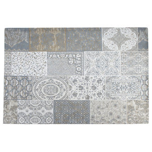 Matrix Area Rug, Grey, 80x150 cm