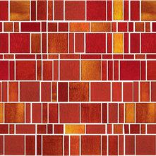 red/orange glass tile backsplash samples