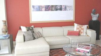 Modern High Rise Living Room/Casa de Rita, Miami FL