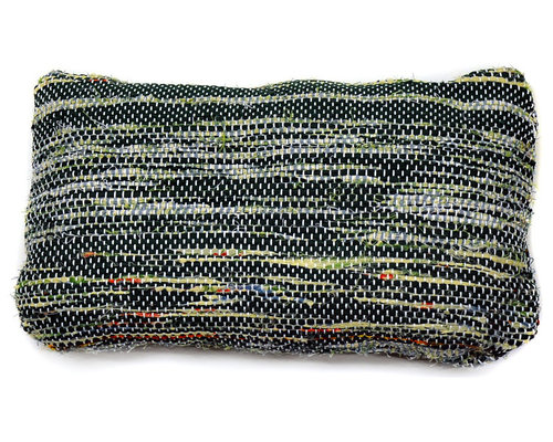 re:loom - re:loom Handwoven Small Pillow, Blue/Yellow/Green/Red - Decorative Pillows