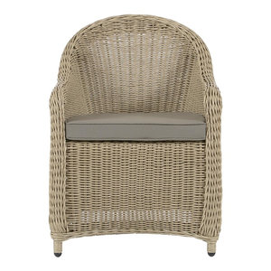 Baumes Outdoor Wicker Lounge Chair, Natural