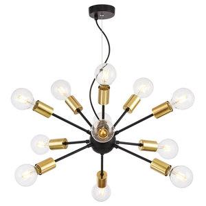 Jackson Loft Sputnik Chandelier, 12 Lights