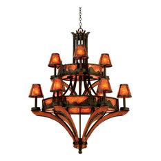 Aspen Chandelier, Natural Iron, 9-Light