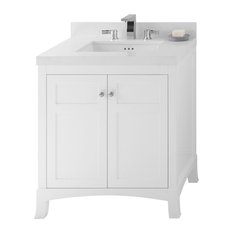 Ronbow Hampton Solid Wood 30-inch Vanity Cabinet Base White