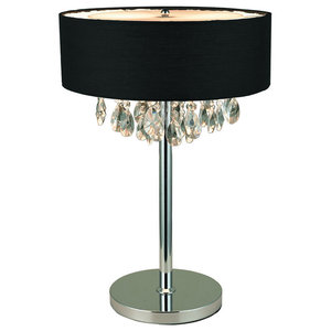 Brilliant Table Lamp, Chrome and Black