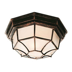 Trans Globe Lighting 40581 BC Outdoor Ceiling Light In Black Copper