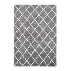 Guinea Diamond Pattern Area Rug, Grey, 160x230 cm