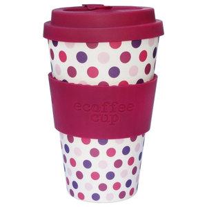 Reusable Ecoffee Cup, Pink Polka