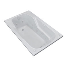 Troy 36 x 72 Rectangular Air & Whirlpool Jetted Drop-In Bathtub with Left Drain
