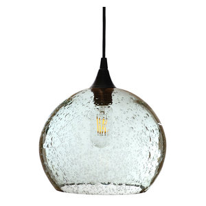 Lunar Pendant No. 768, Clear Glass Shade, Black Hardware, 4 Watt