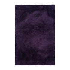 Milan Shag Shag Purple Rug, 5'x7'