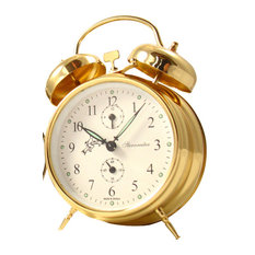 Double Bell Alarm Clock, Gold