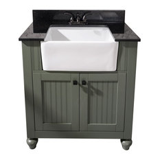 30-inch Pewter Greensink Vanity Without Faucet