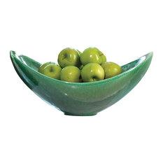 Global Views Swoop Bowl, Emerald