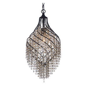 Twirl 1 Light Chandelier in Oil Rubbed Bronze