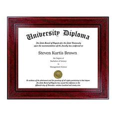 "Single Diploma / Document Frame, Sport Cherry, 11""x14"""