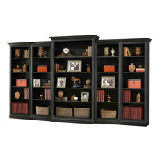 Howard Miller Oxford 5-Piece Bookcase Wall Unit, Black
