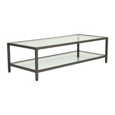 Rectangle Glass Coffee Tables Houzz - Houzz glass coffee table