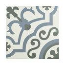 """9.75""""x9.75"""" Hidraulic Porcelain Floor/Wall Tiles, Set of 16, Corner"""