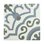 SomerTile Hidraulic Porcelain Floor and Wall Tile, Ducados