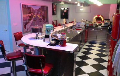 Room of the Day: A 1950s Diner and 'Drive-In' Theater at Home
