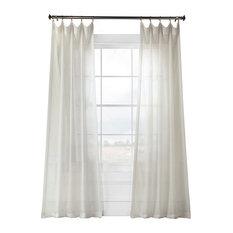 """Gardenia Faux Linen Sheer Curtain Single Panel, 50""""x84"""""""