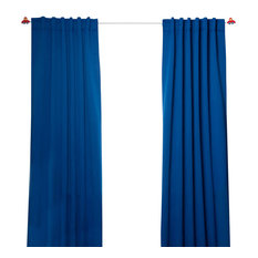 Beautiful Best Home Fashion   Solid Thermal Insulated Blackout Curtains, Pair, Royal  Blue, 72